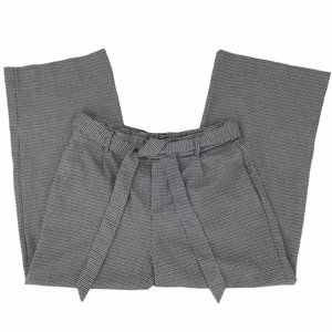 Zara TRF Collection Houndstooth Wide Leg Pant